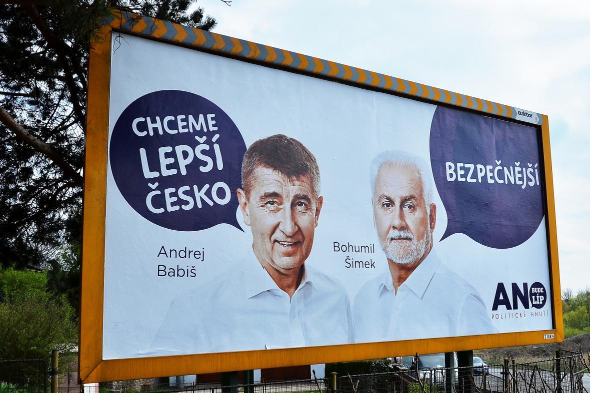 Volební kampaň hnutí ANO
