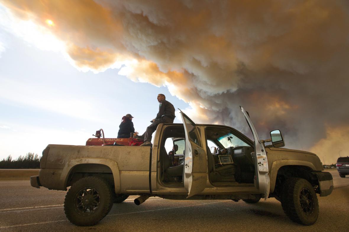 Požár v kanadské Albertě