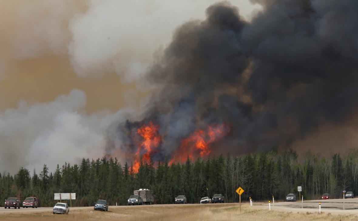 Požár v Albertě