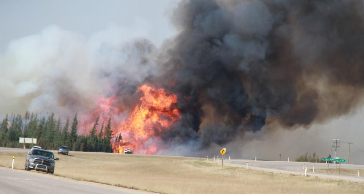 Požáry v kanadské provincii Alberta