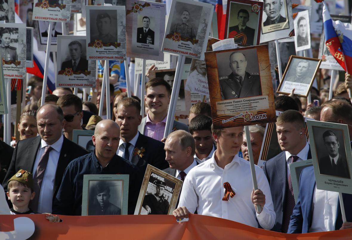 Pochod v centru Moskvy