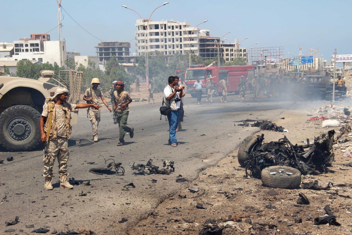 Bombový útok v Jemenu