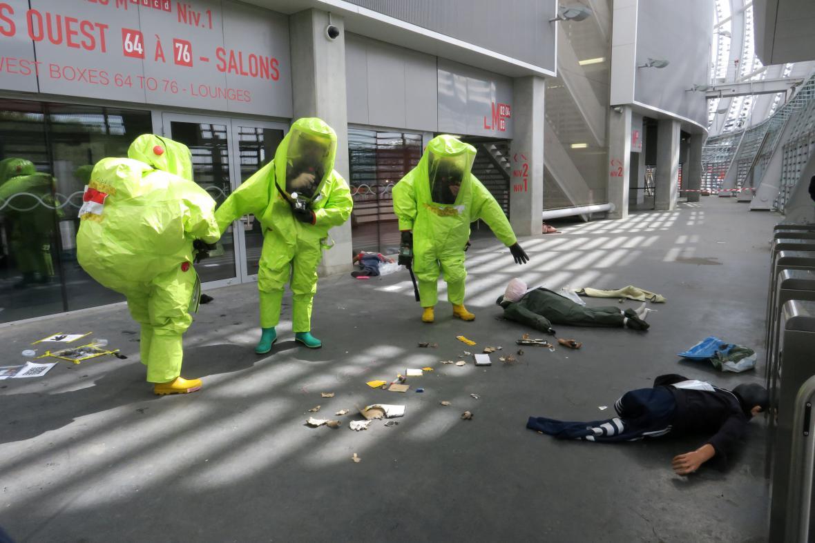 Nácvik zásahu při chemickém útoku