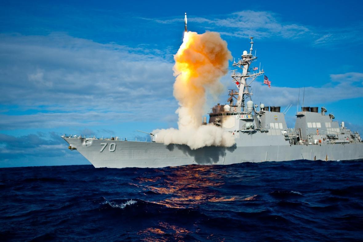 Testování protiraketového systému Aegis