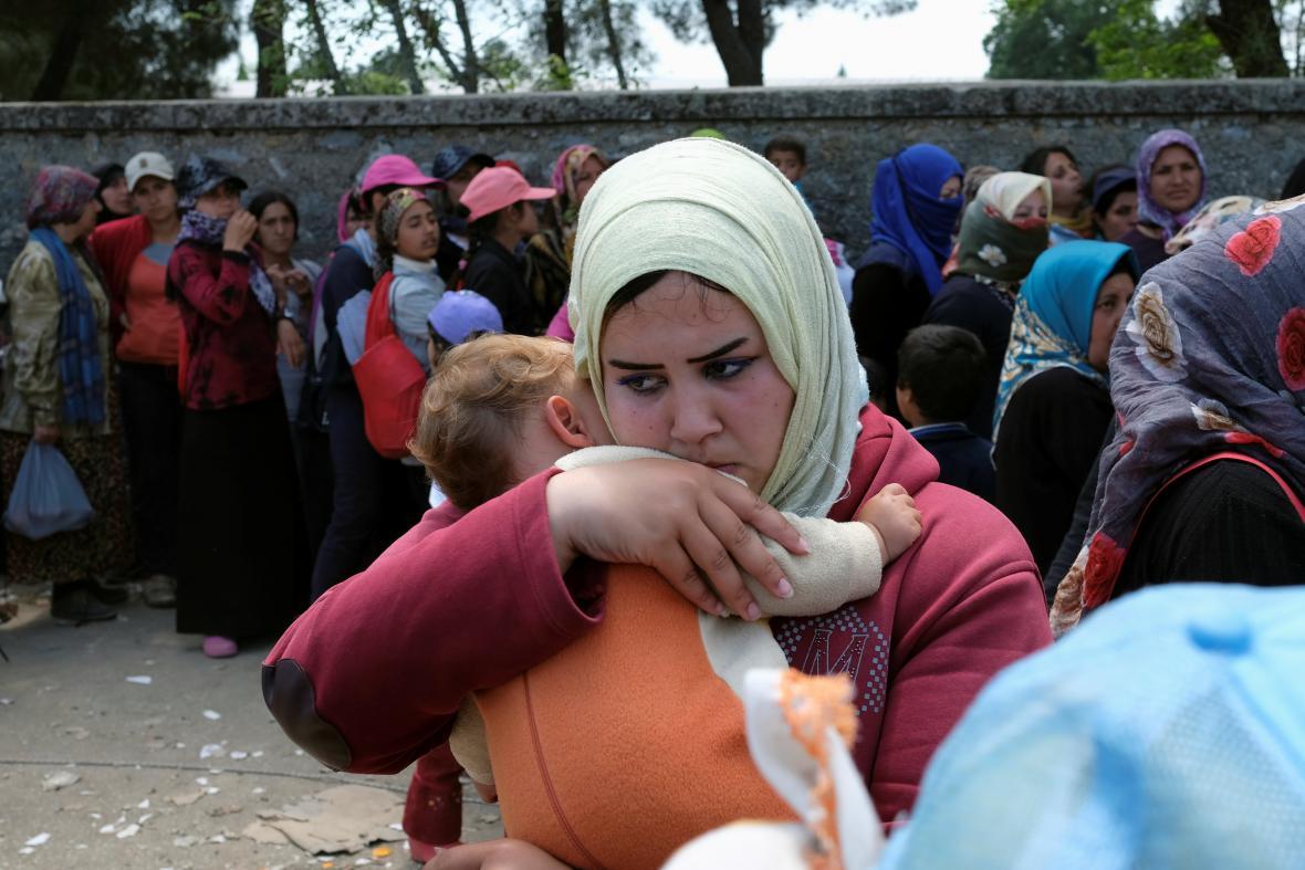 Uprchlíci v Idomeni