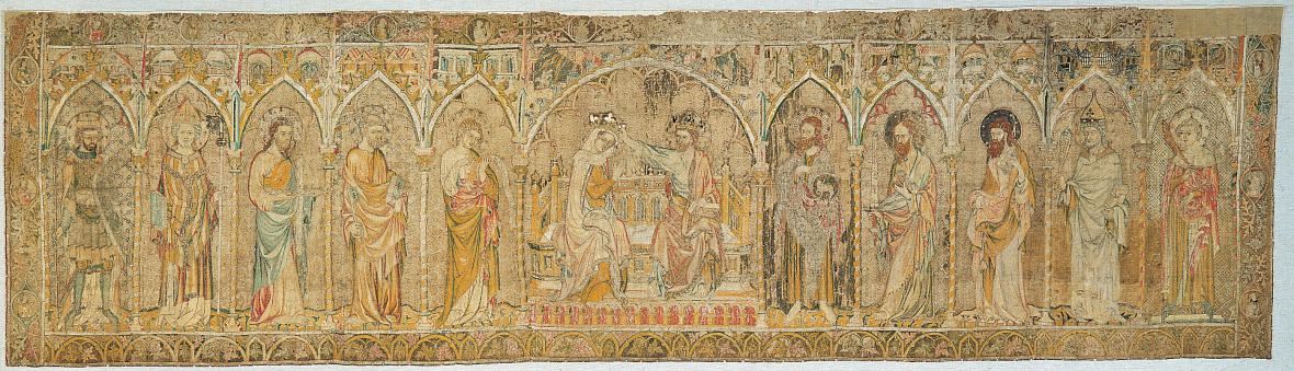 Antependium s Korunováním Panny Marie z mariánského kostela v Pirně, před rokem 1350