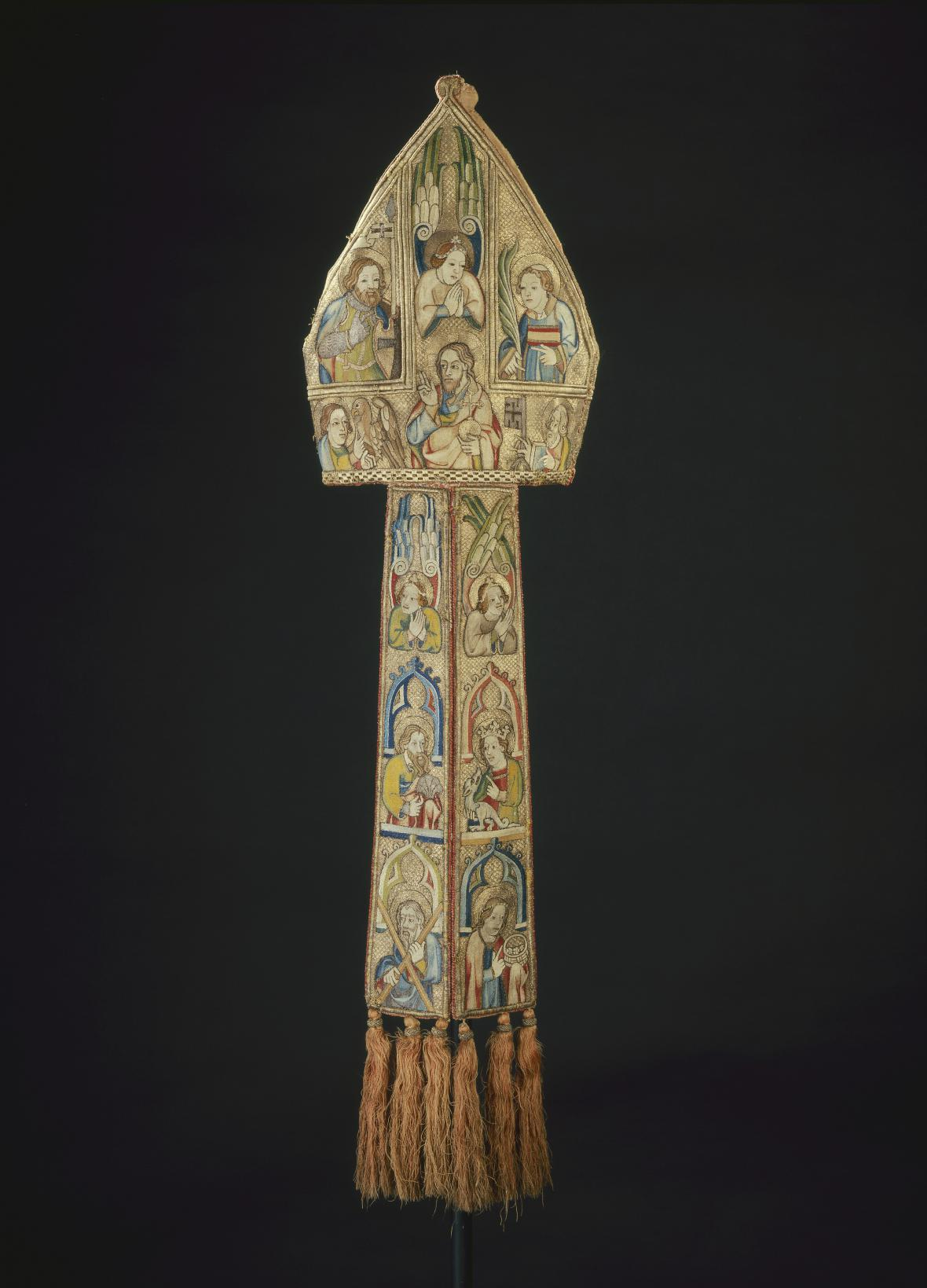 Mitra merseburského biskupa Fridricha II. von Hoym, Čechy, 1360–1370
