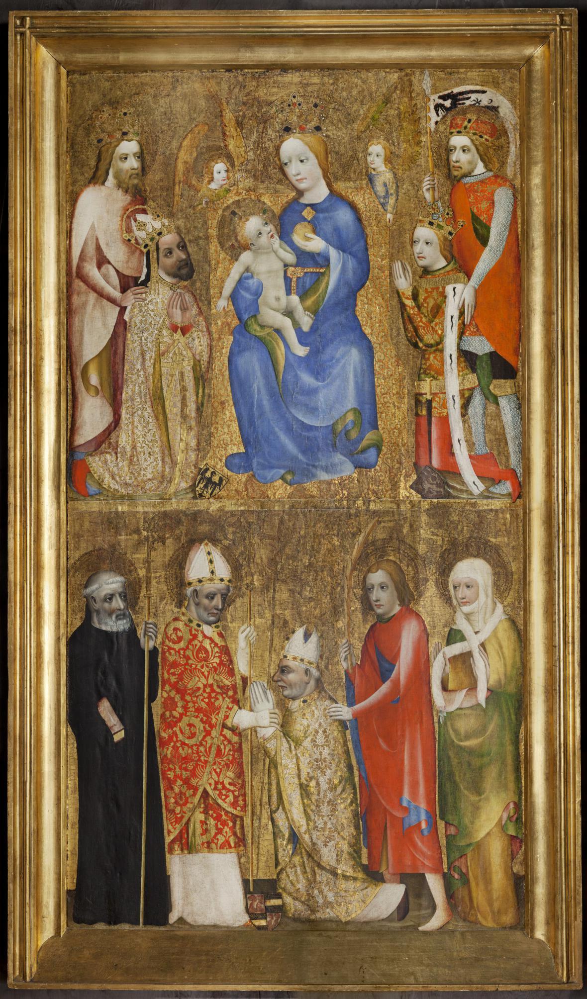 Votivní obraz pražského arcibiskupa Jana Očka z Vlašimi, Praha, před rokem 1371