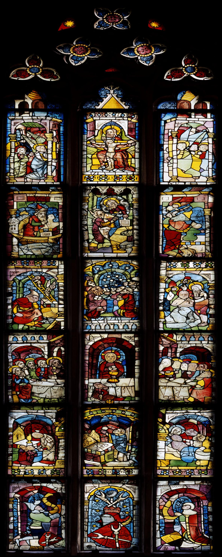 Východní osové okno rodiny Waldstromerů, Norimberk, kolem roku 1370