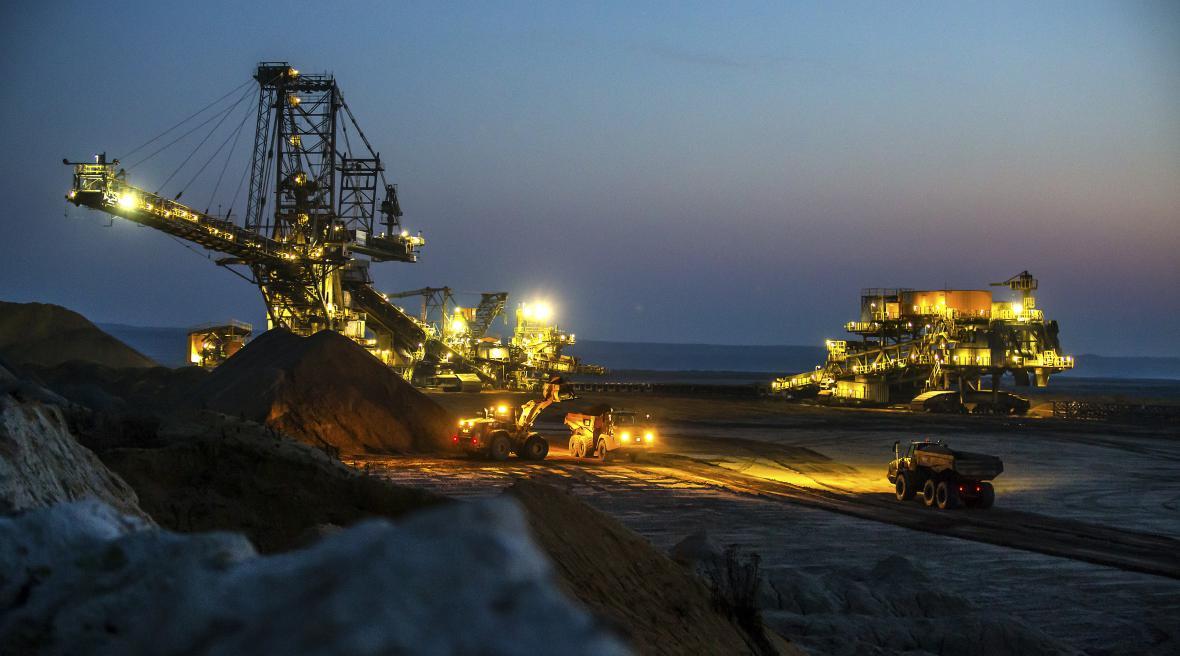 Pohled na důl Welzov-jih, který nyní patří EPH.