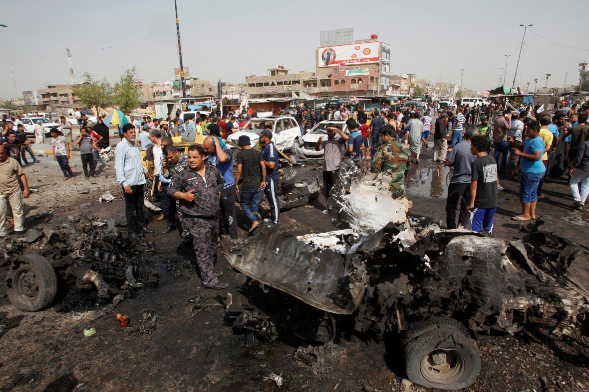 Výbuch automobilu ve čtvrti Sadr City
