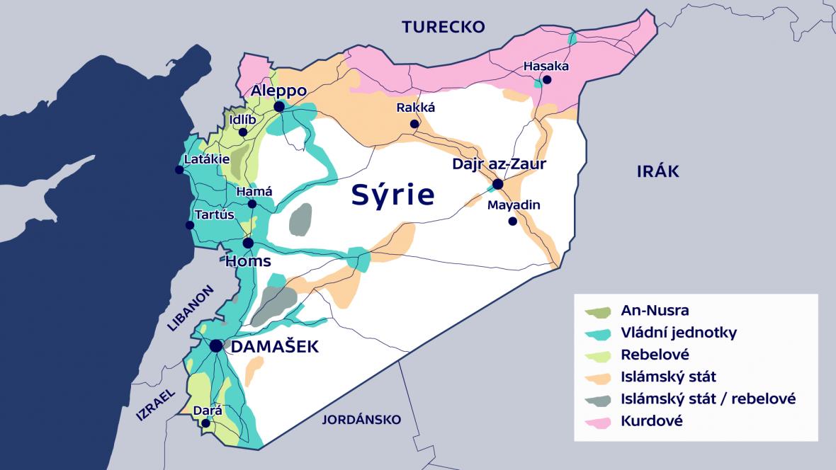 Mapa Syrského konfliktu