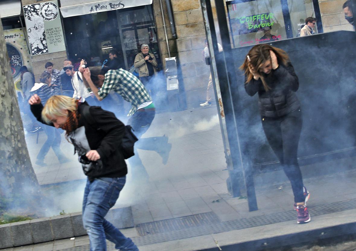 Nepokoje kvůli novému zákoníku práce v Nantes