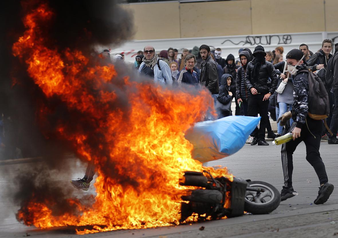 Protesty v Nantes