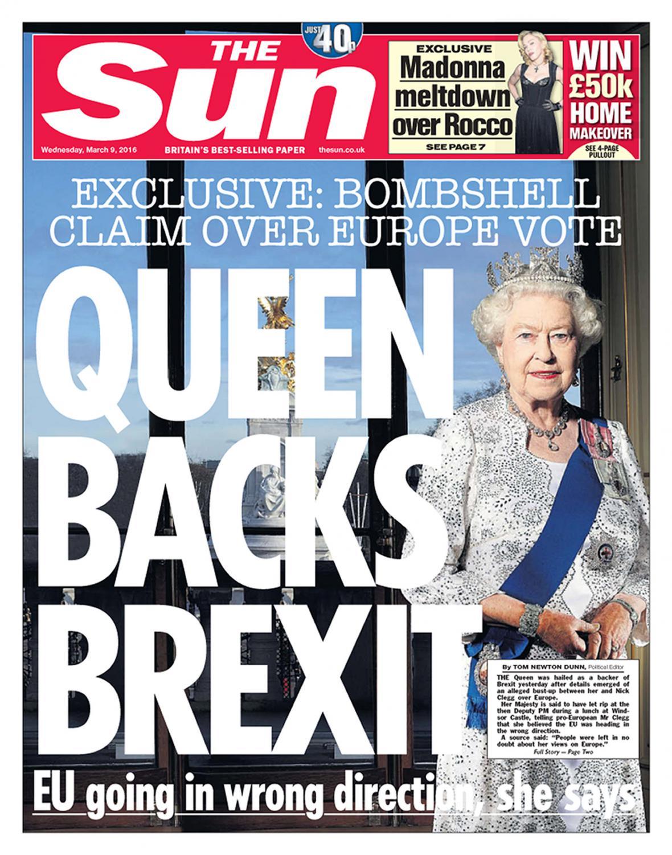 Výtisk bulvárního deníku The Sun