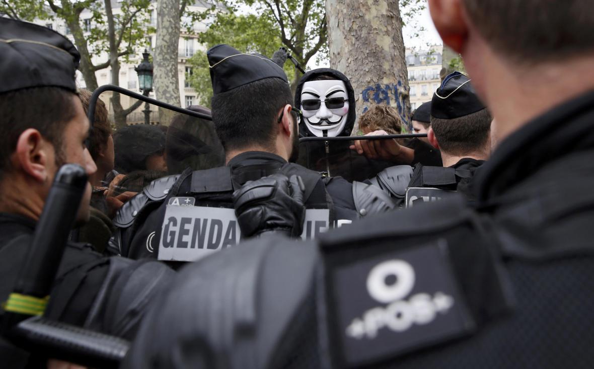 Protest v Paříži