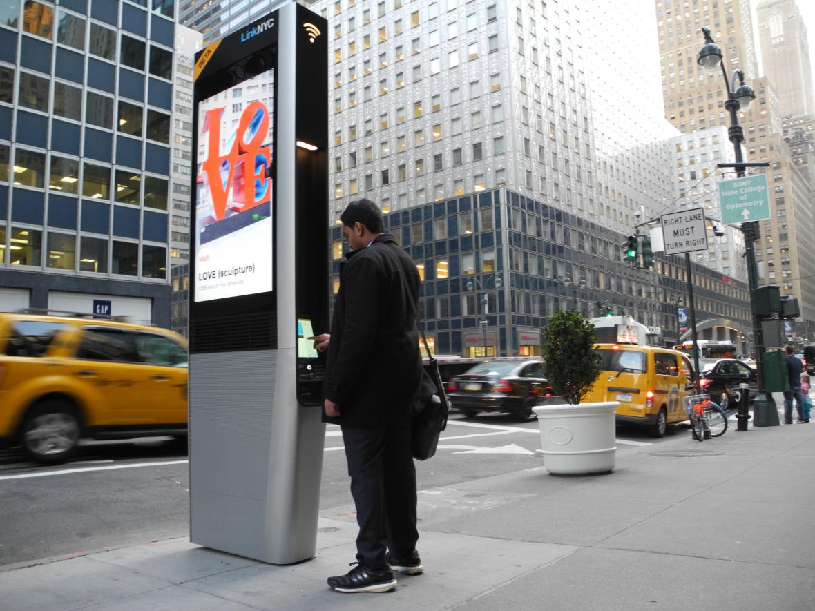 Wi-Fi hotspoty v New Yorku
