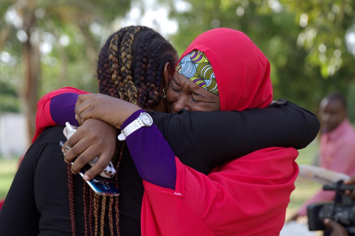 Radost členek kampaně za záchranu unesených Nigerijek
