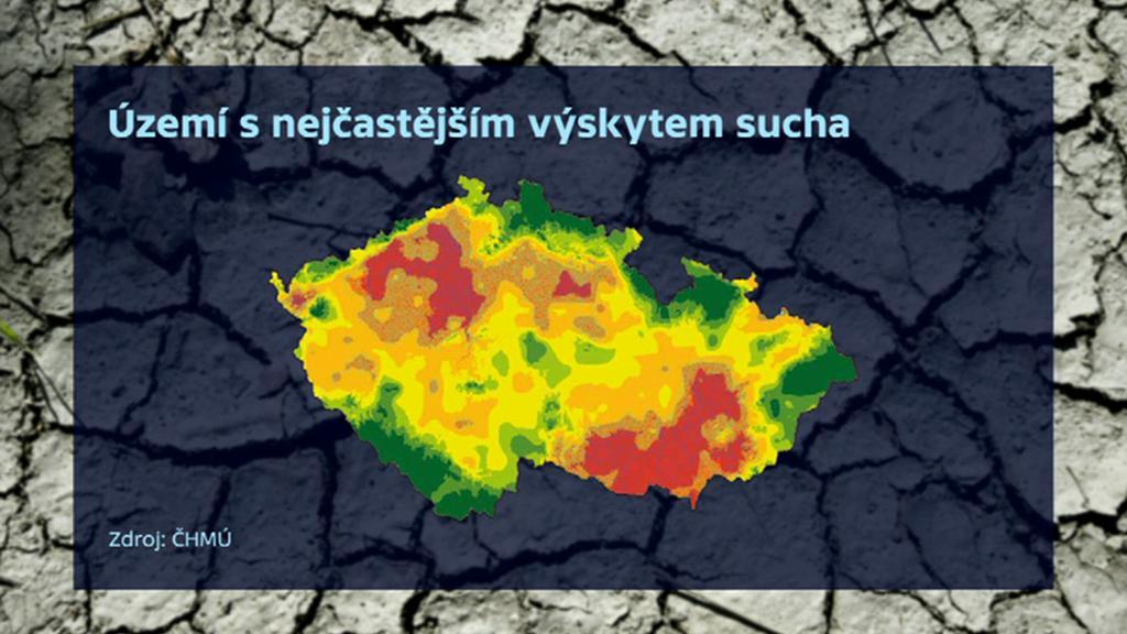 Oblasti nejvíce ohrožené suchem
