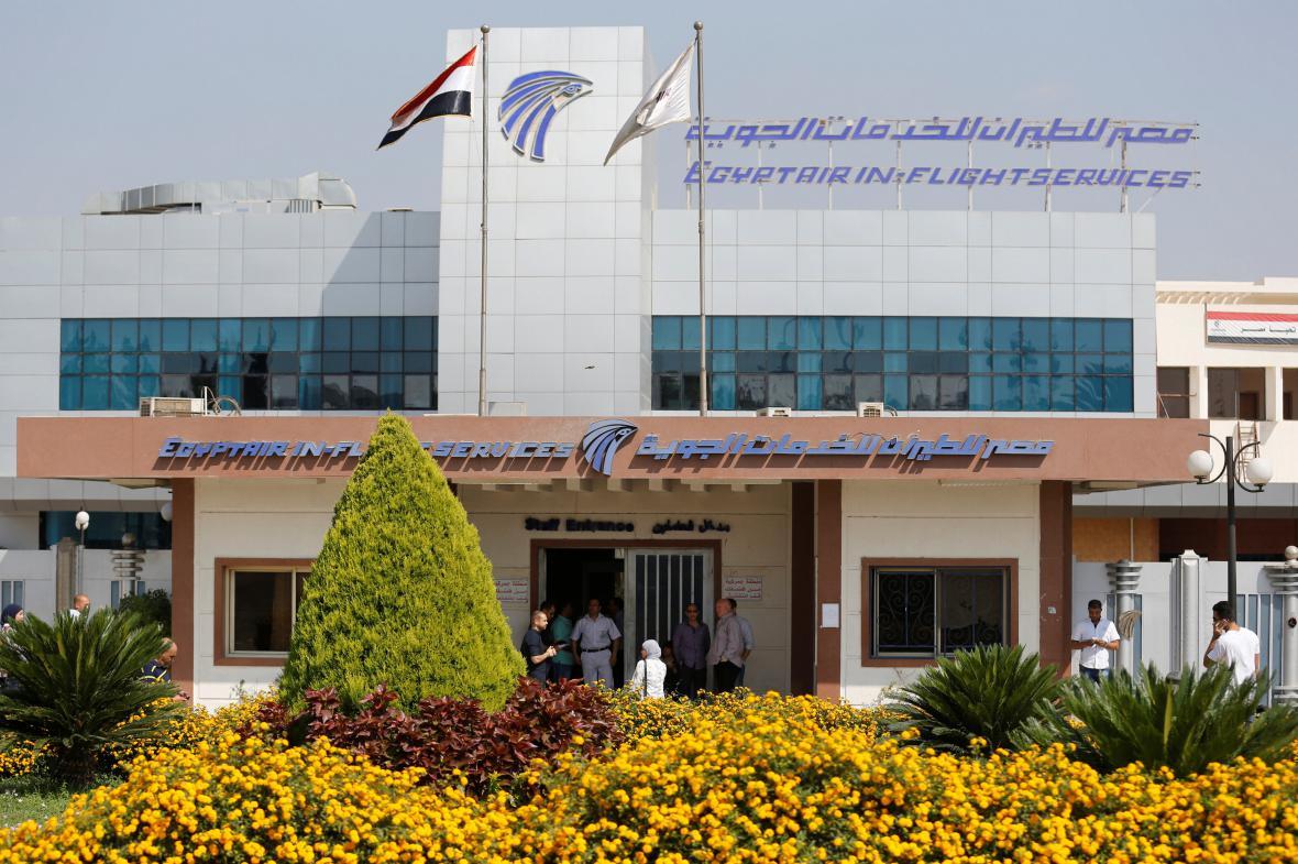Pracoviště společnosti EgypAir u káhirského letiště