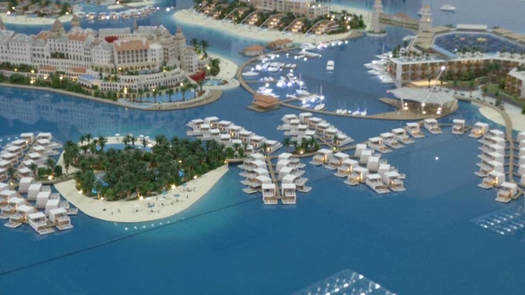 Dubajský ožívající projekt Svět