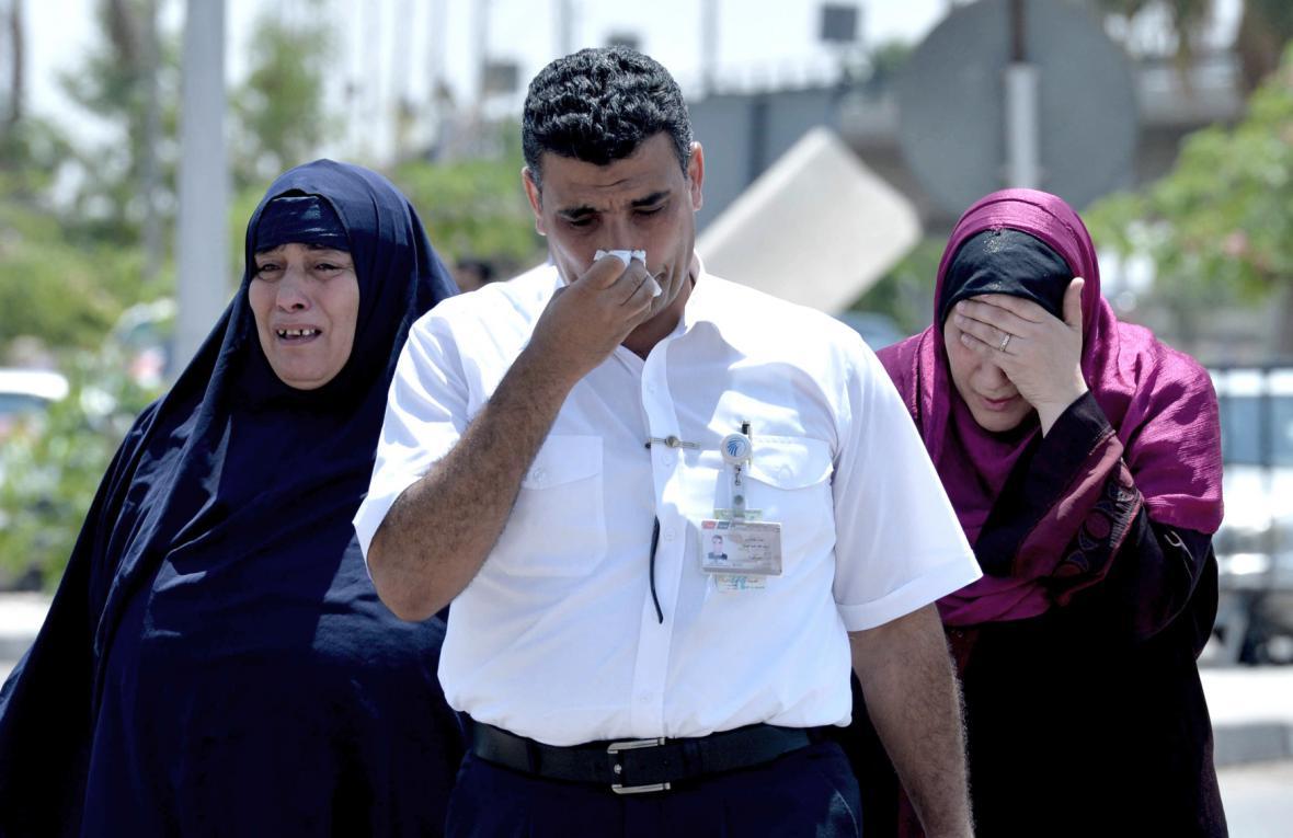Příbuzní pasažérů ze zříceného egyptského airbusu