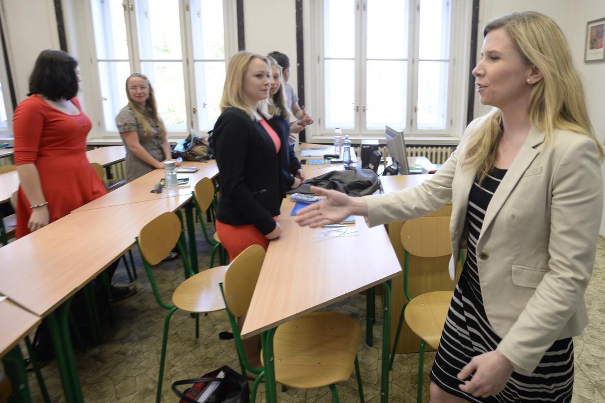 Ministryně školství Kateřina Valachová při zahájení státních maturit
