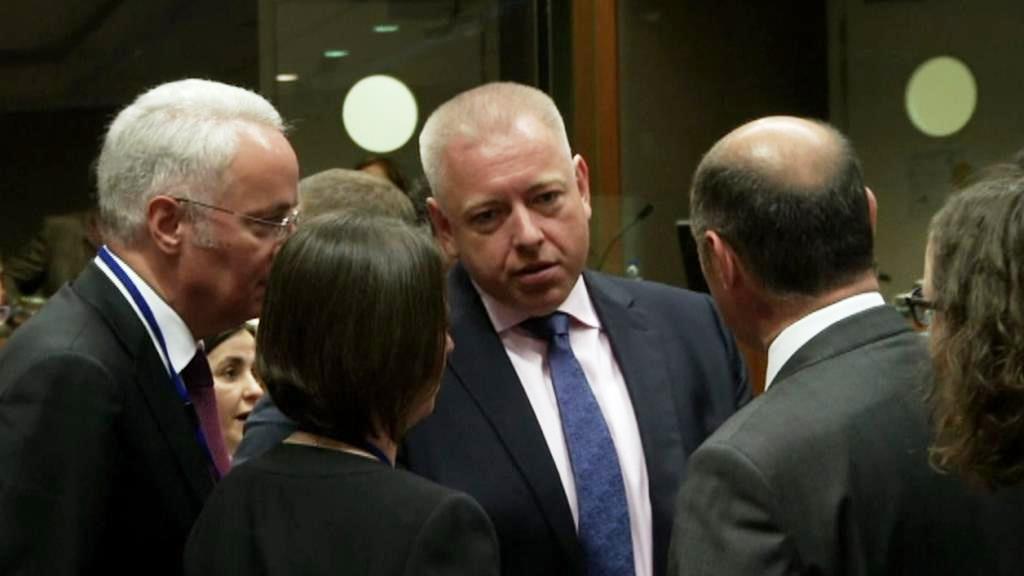 Ministr vnitra Milan Chovanec na jednání v Bruselu