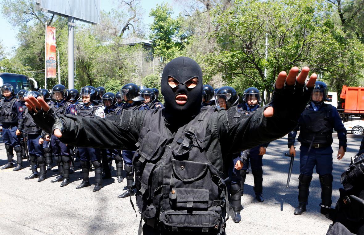 Kazašská policie zabránila protestům