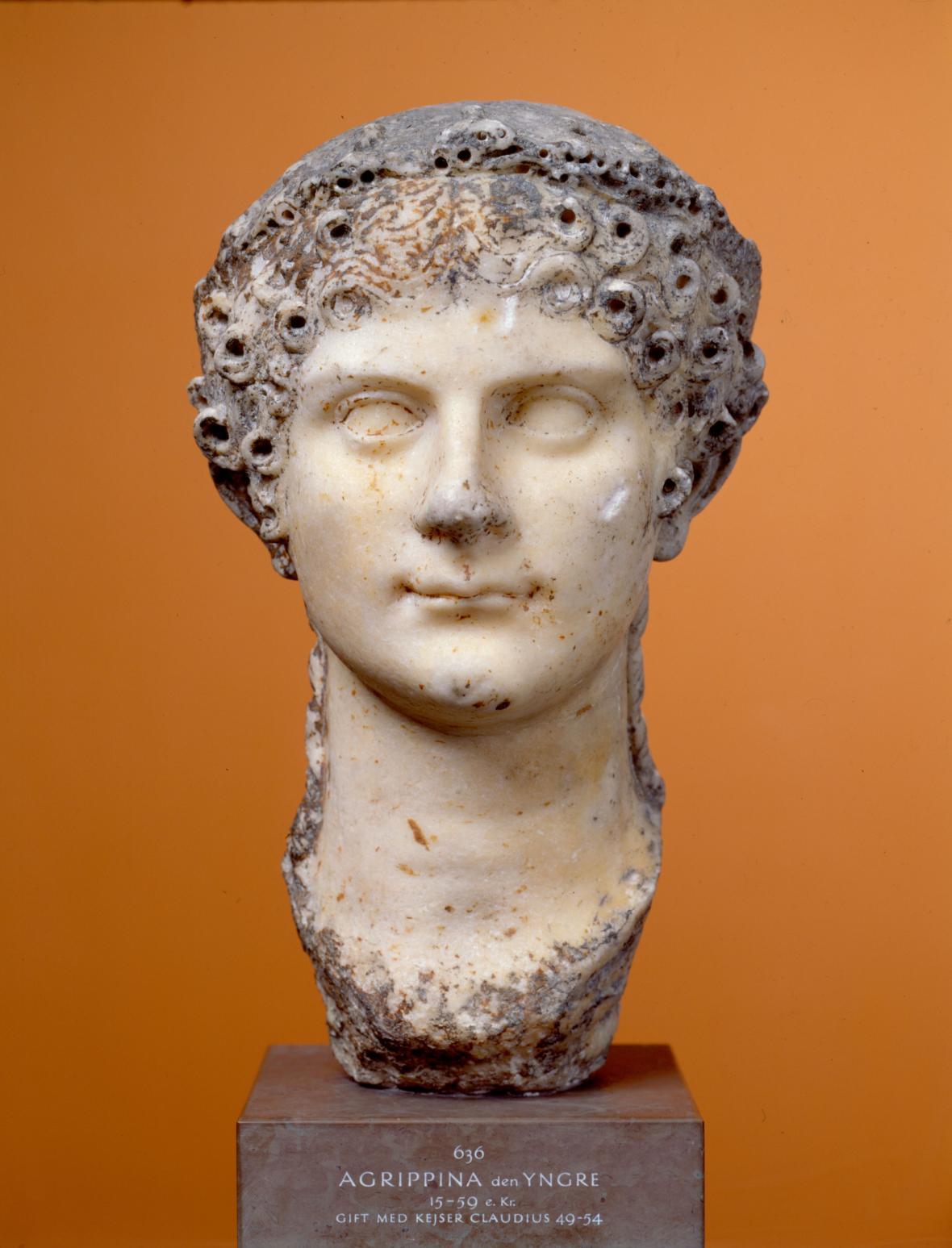 Portrét Agrippiny mladší, 49-54 po Kr.