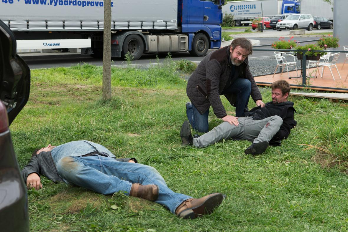 Z natáčení seriálu Rapl