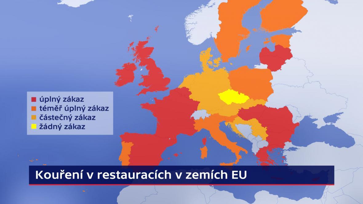Kouření v restauracích v EU