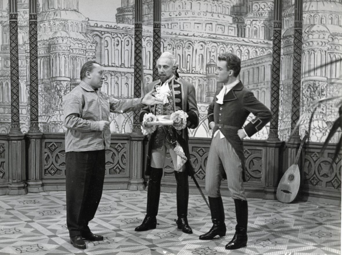 Z natáčení Barona Prášila