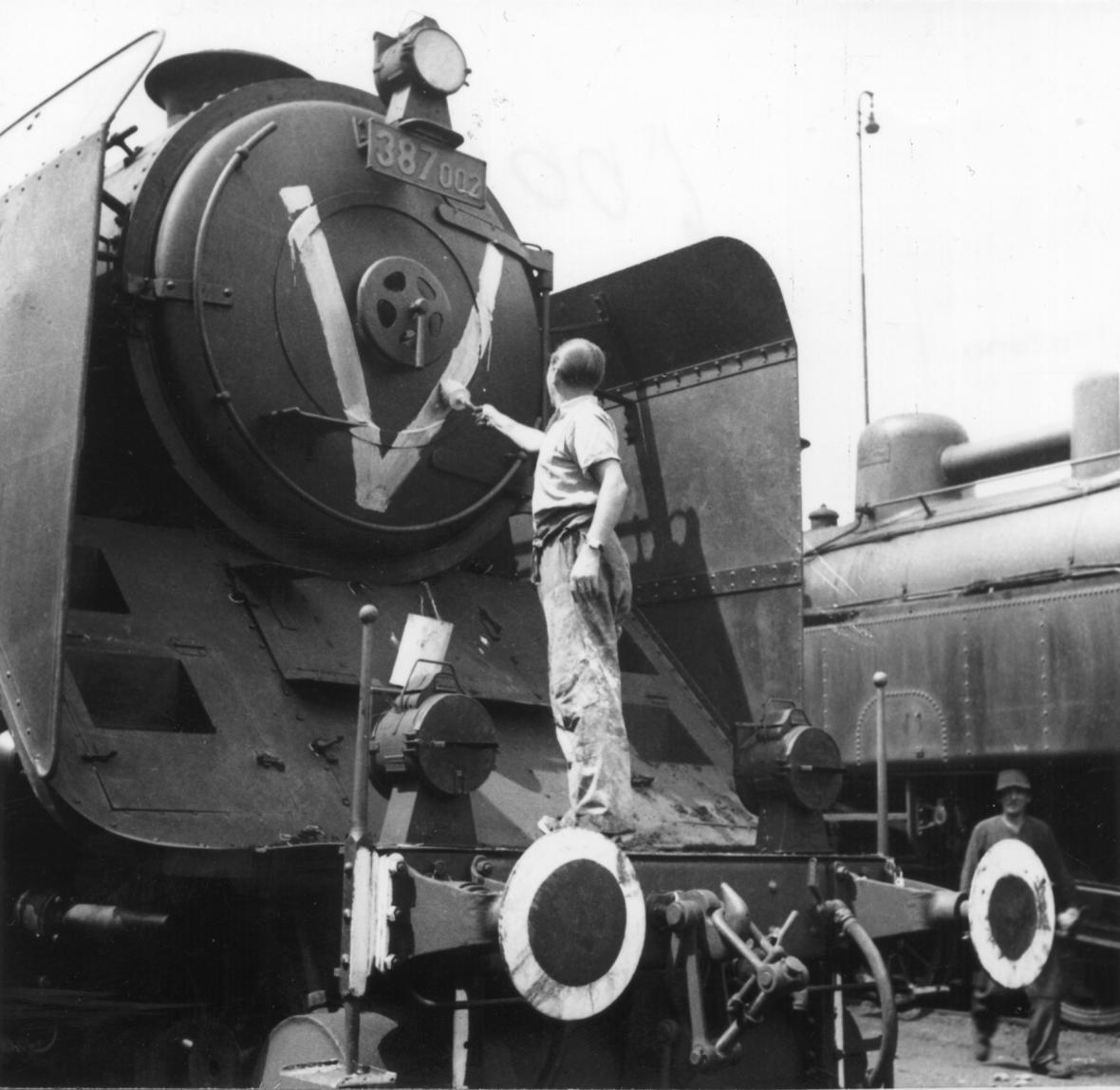 Parní lokomotiva za druhé světové války