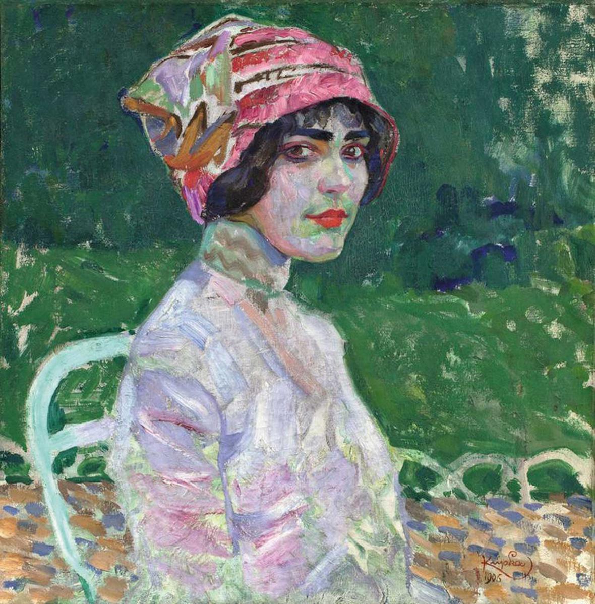 František Kupka / Růžový klobouk