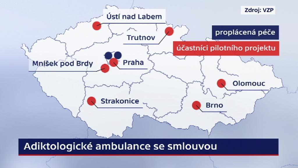 Adiktologické ambulance se smlouvou