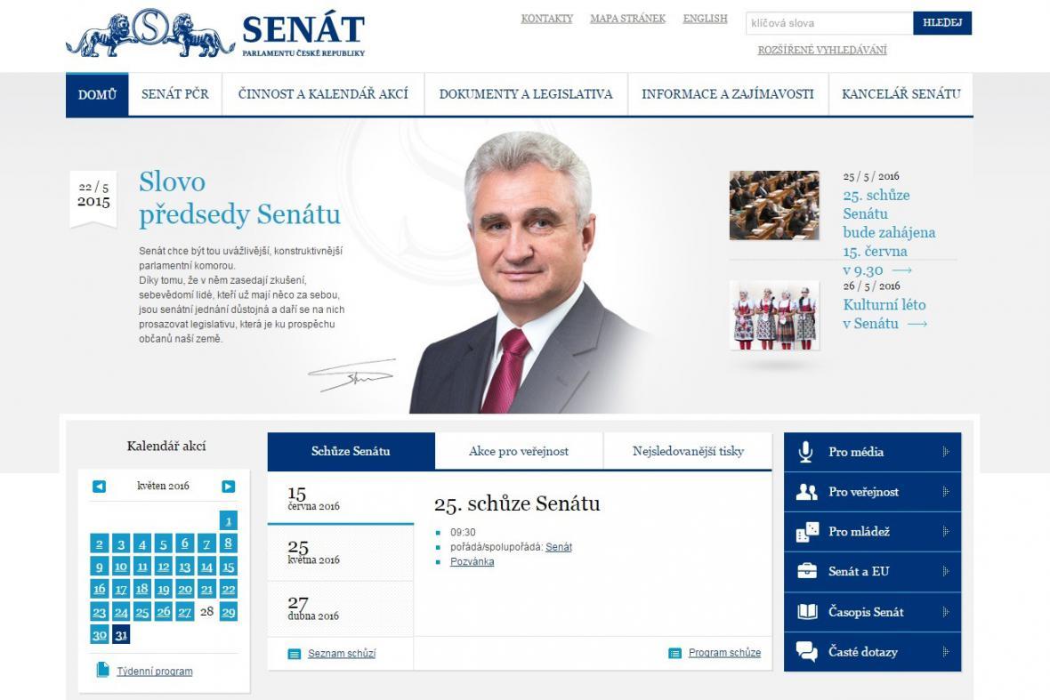 Internetové stránky Senátu