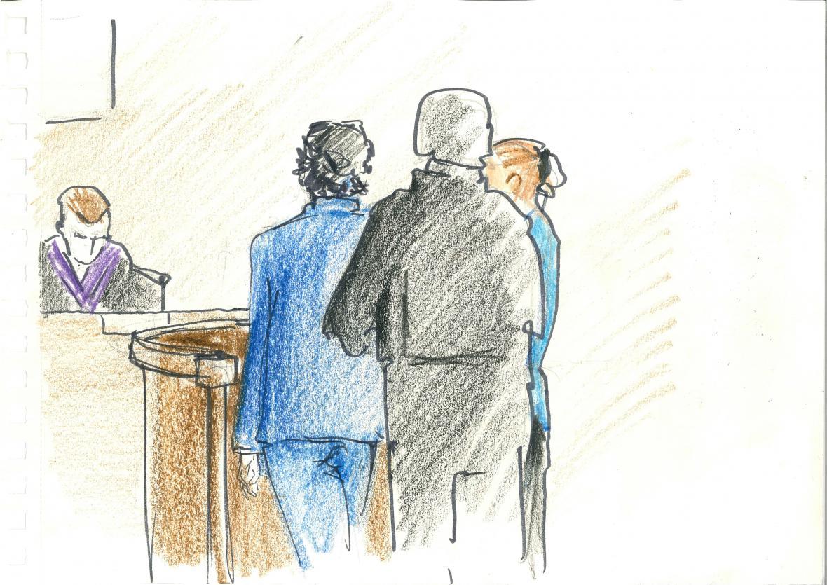 Kevin Dahlgren při jednání soudu v Brně