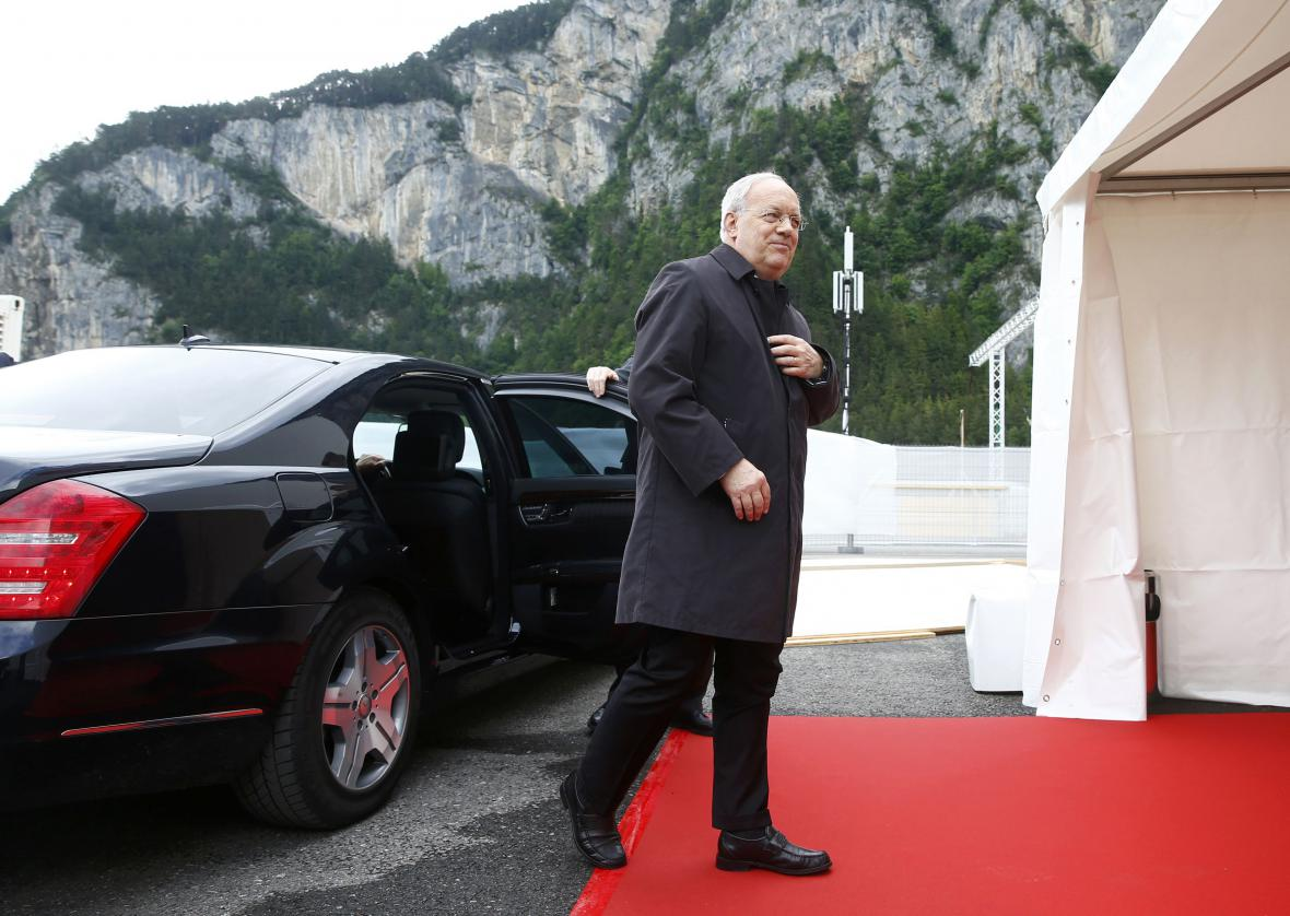 Otevřít tunel přijel i švýcarský prezident Johann Schneider-Ammann