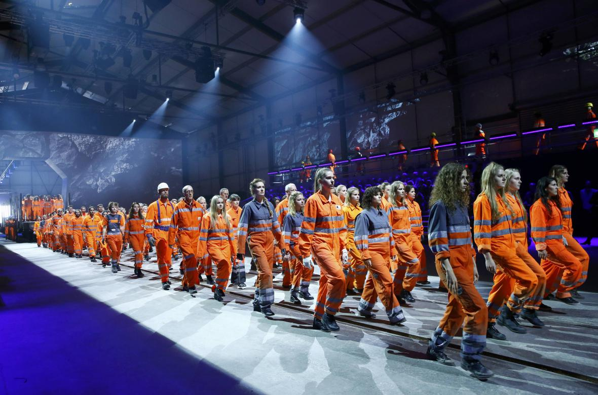 Slavnostní otevření Gotthardského tunelu