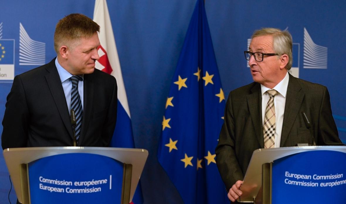 Robert Fico a Jean-Claud Juncker