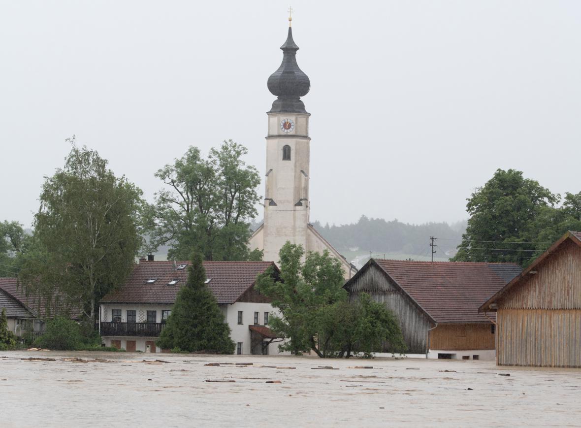 Zaplavená obec Triftern