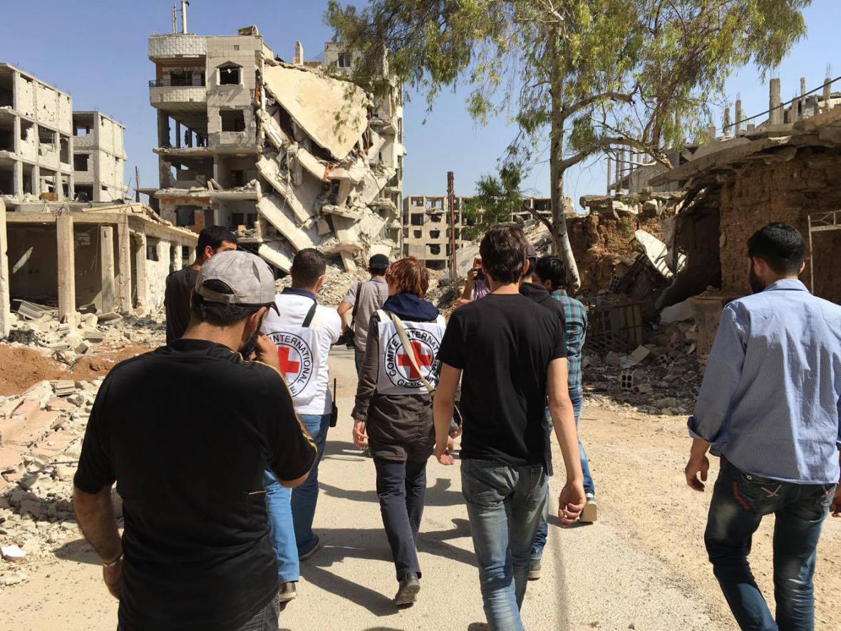 Humanitární pomoc v syrské Daráji