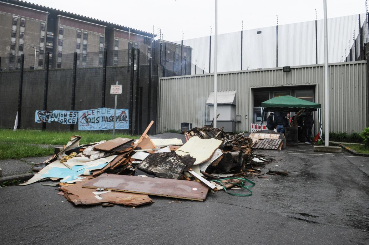Belgická věznice Lantin po vzpouře dozorců
