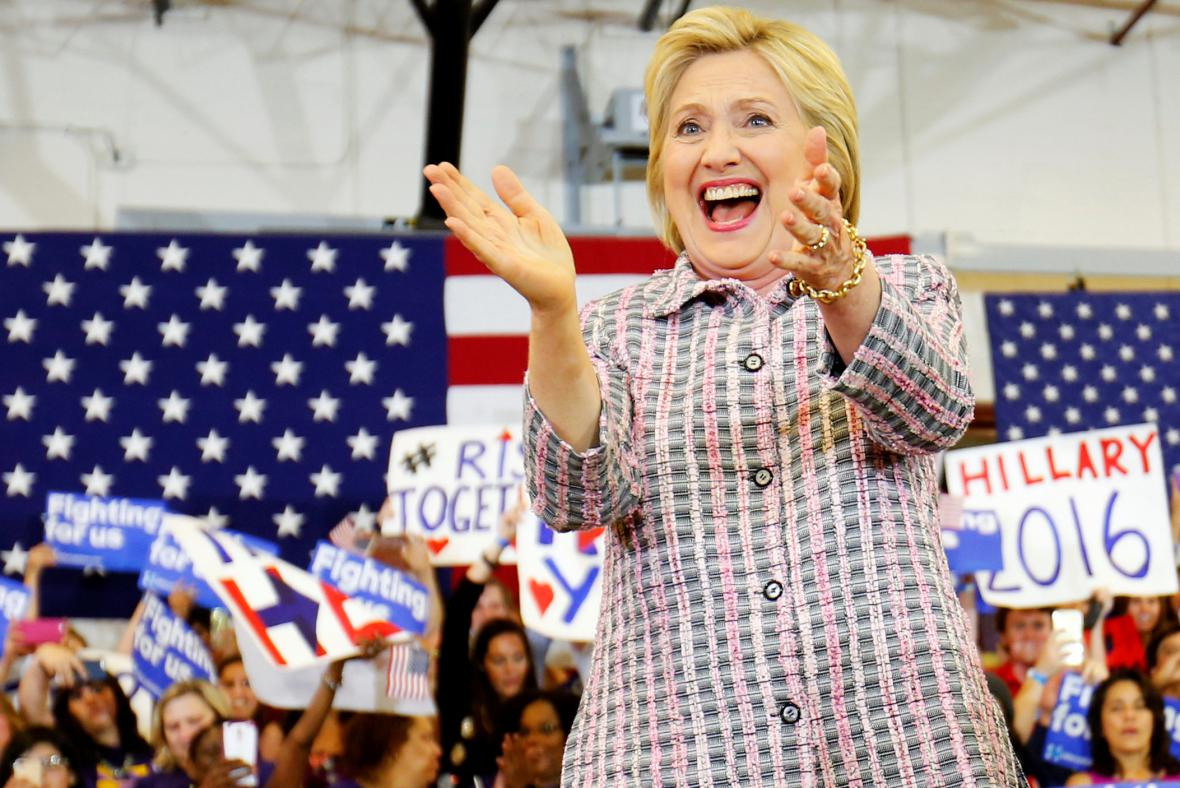 Hillary Clintonová během předvolební kampaně