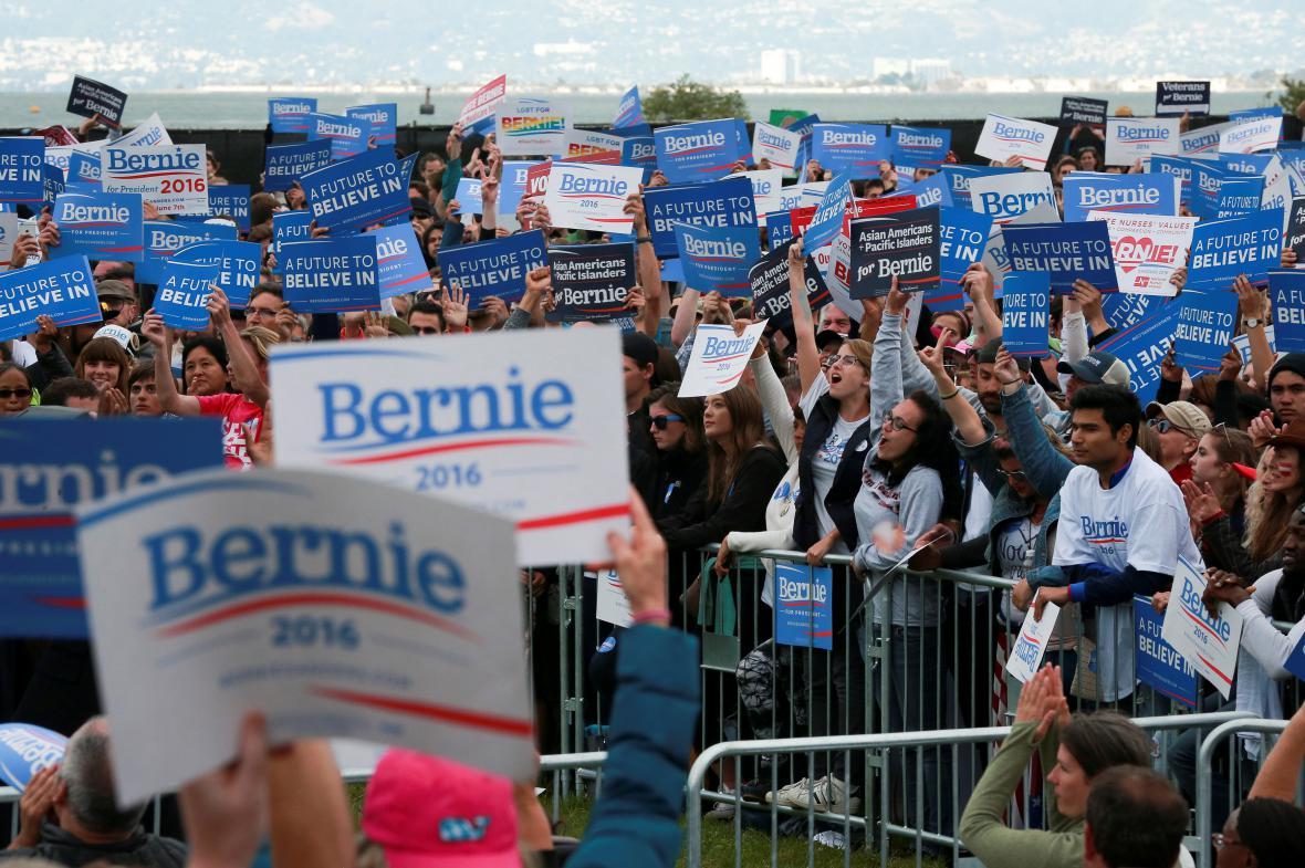 Příznivci Bernieho Sanderse