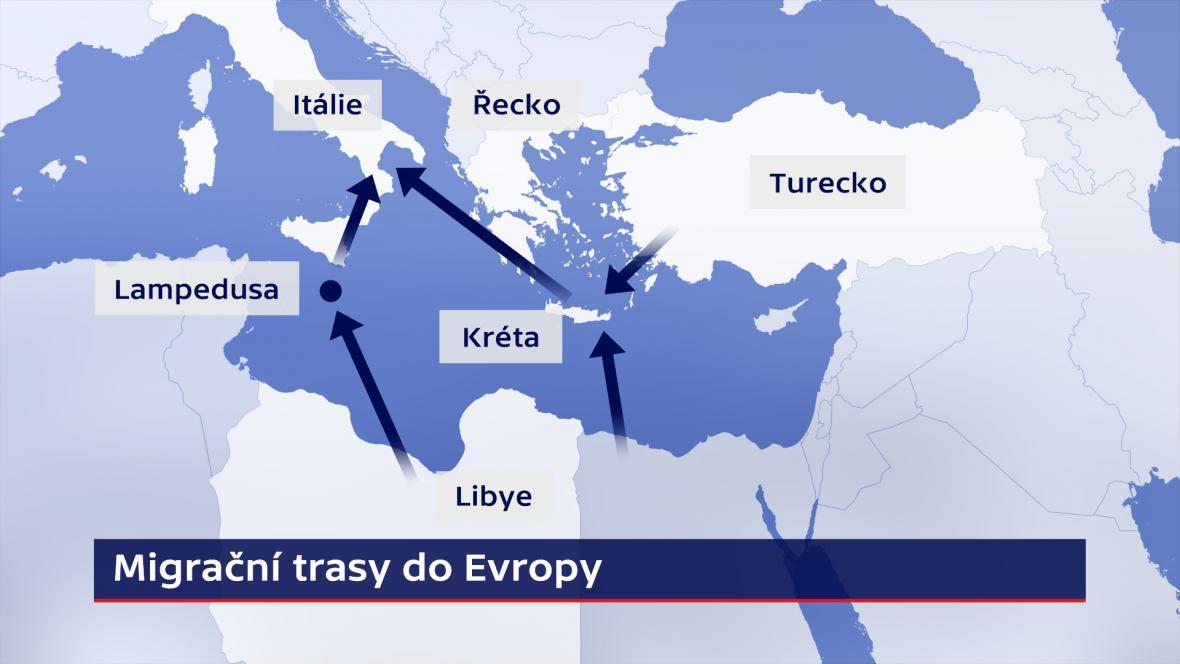 Migrační trasy do Evropy