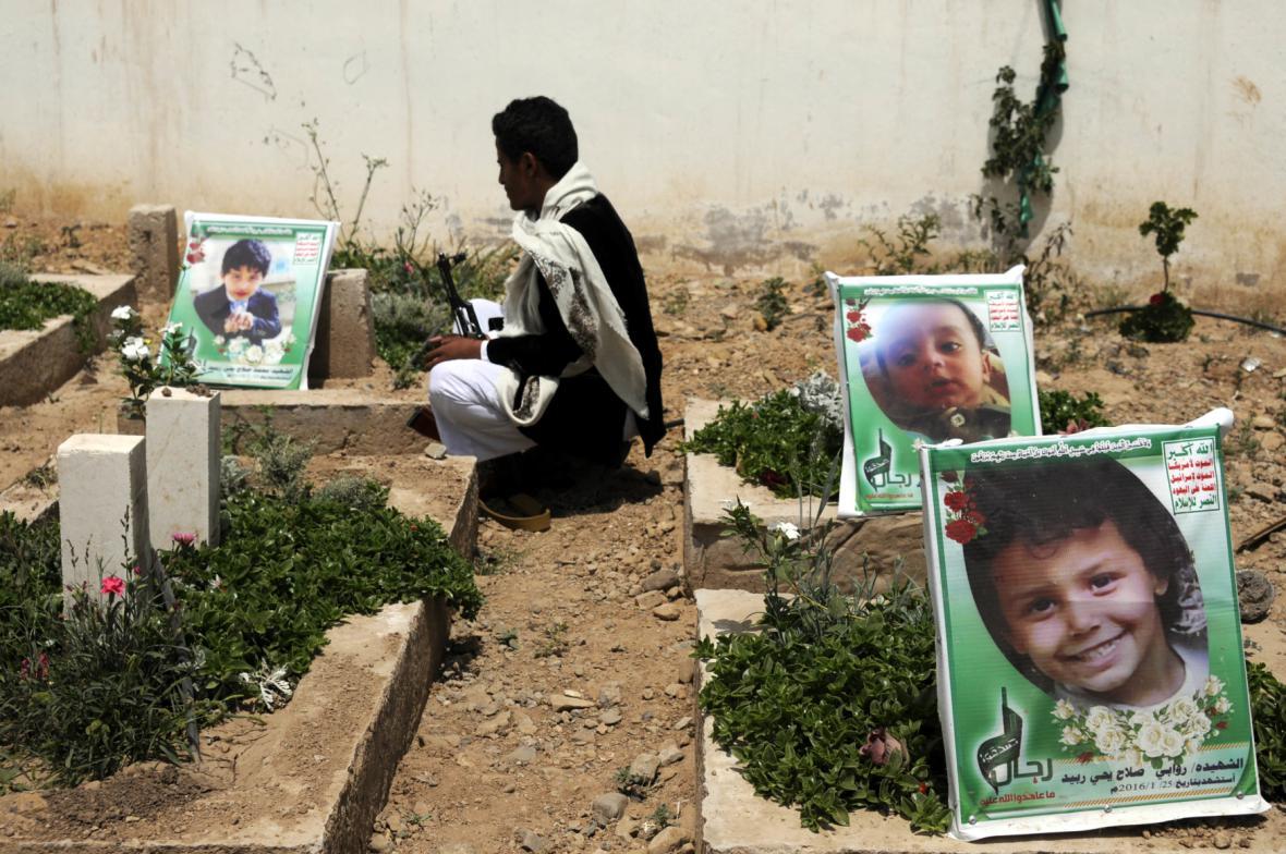 Dětské oběti jemenského konfliktu
