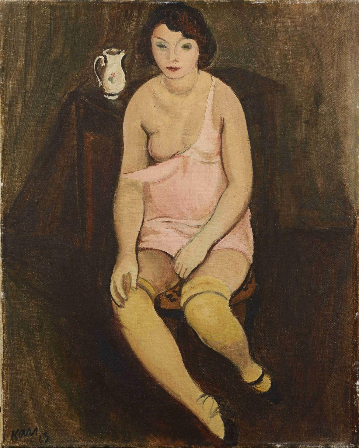 Georges Kars / Dívka se žlutými punčochami, 1923