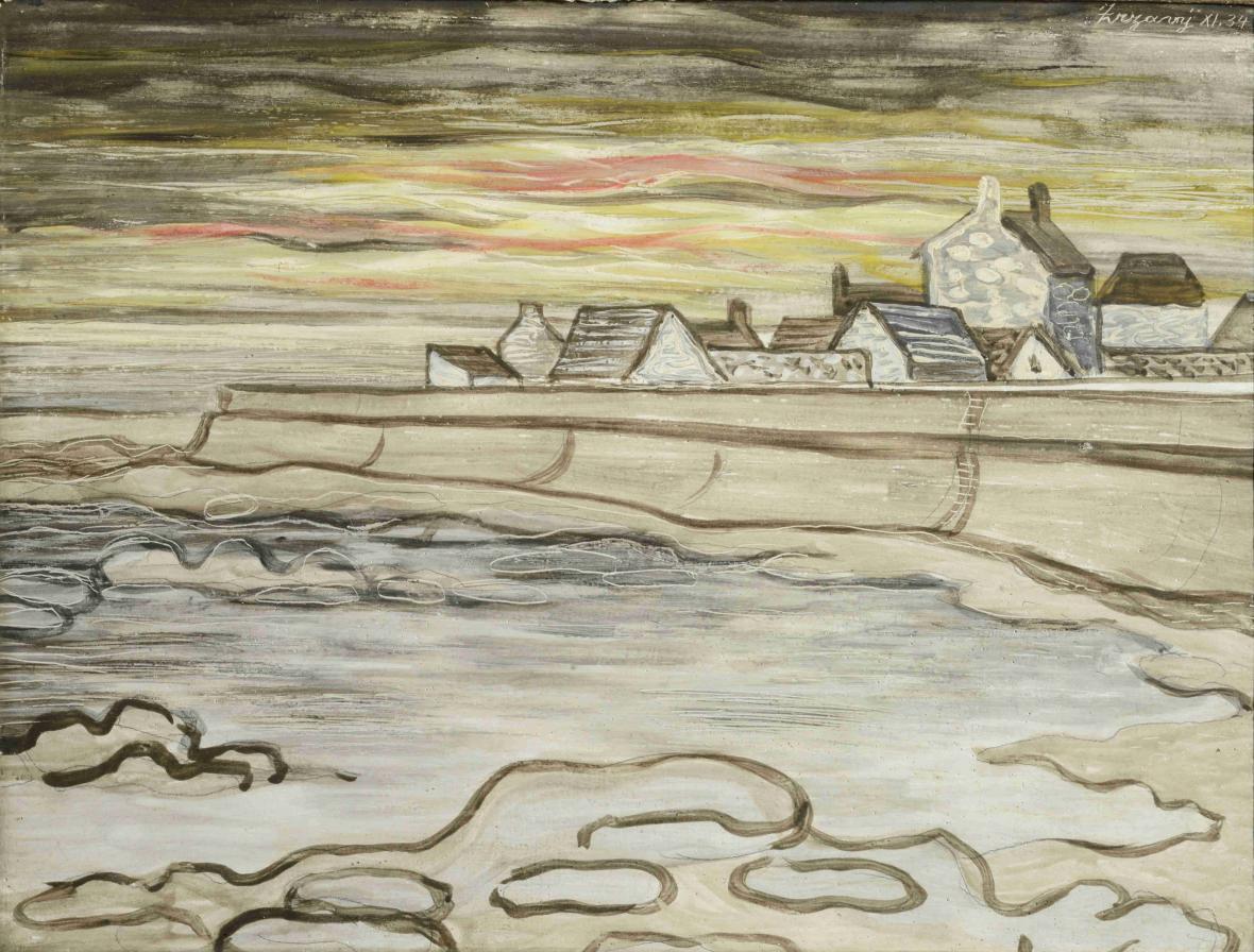 Jan Zrzavý / Pobřeží na Île de Sein, 1934